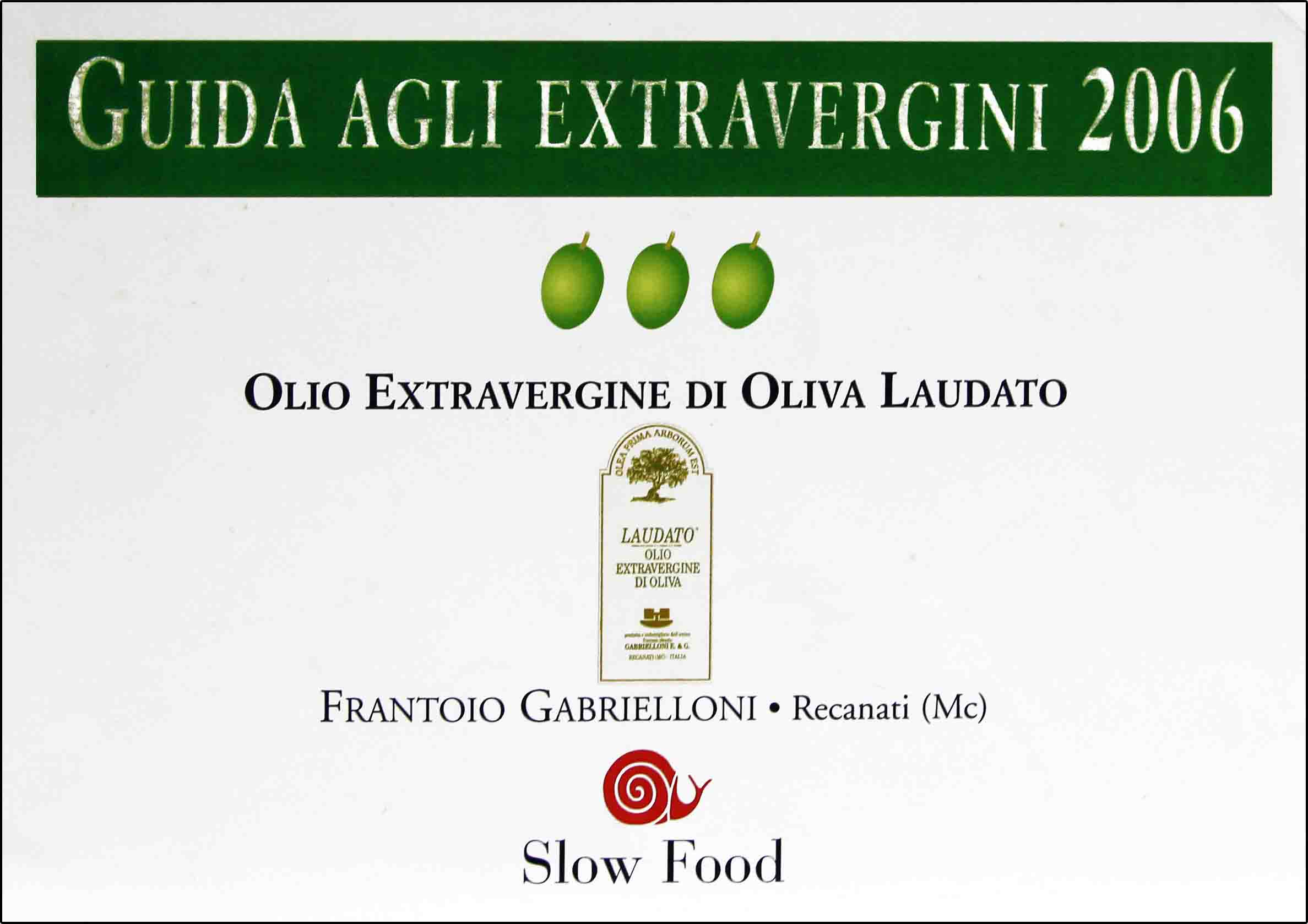 Excellence Slow Food Guide 2006