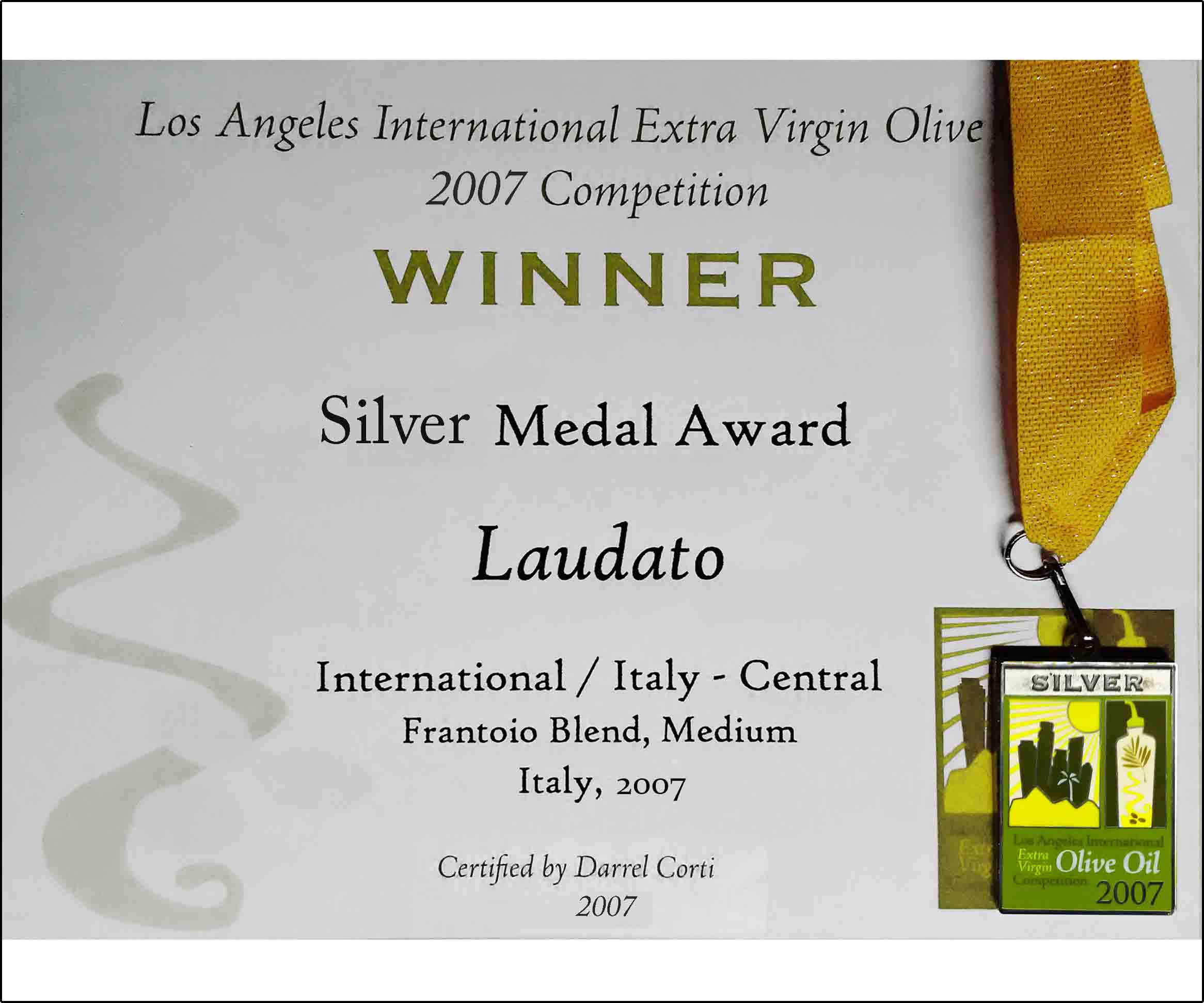 Los Angeles International Extra Virgin Olive Oil Competition 2007