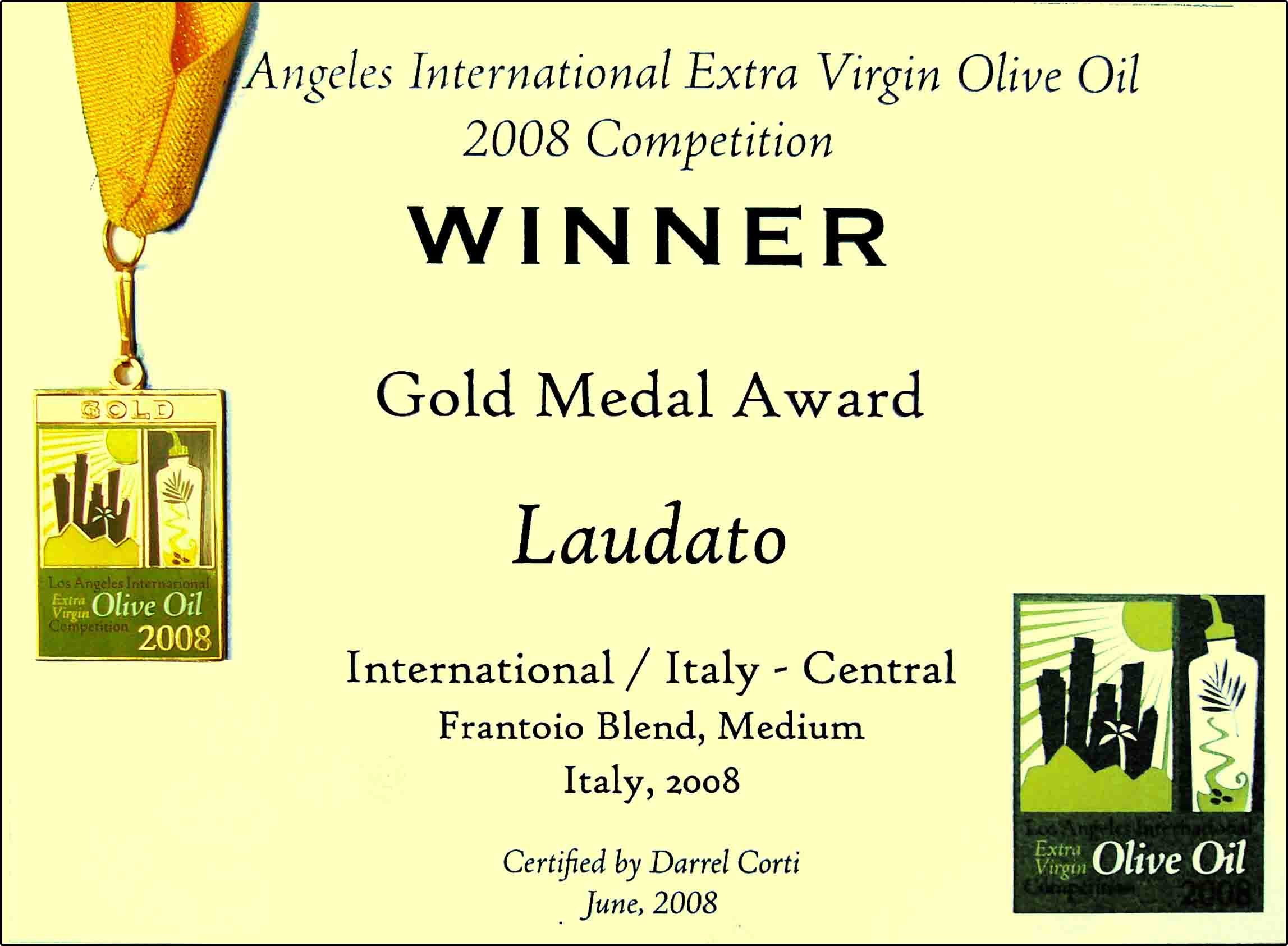 Los Angeles International Extra Virgin Olive Oil Competition 2008
