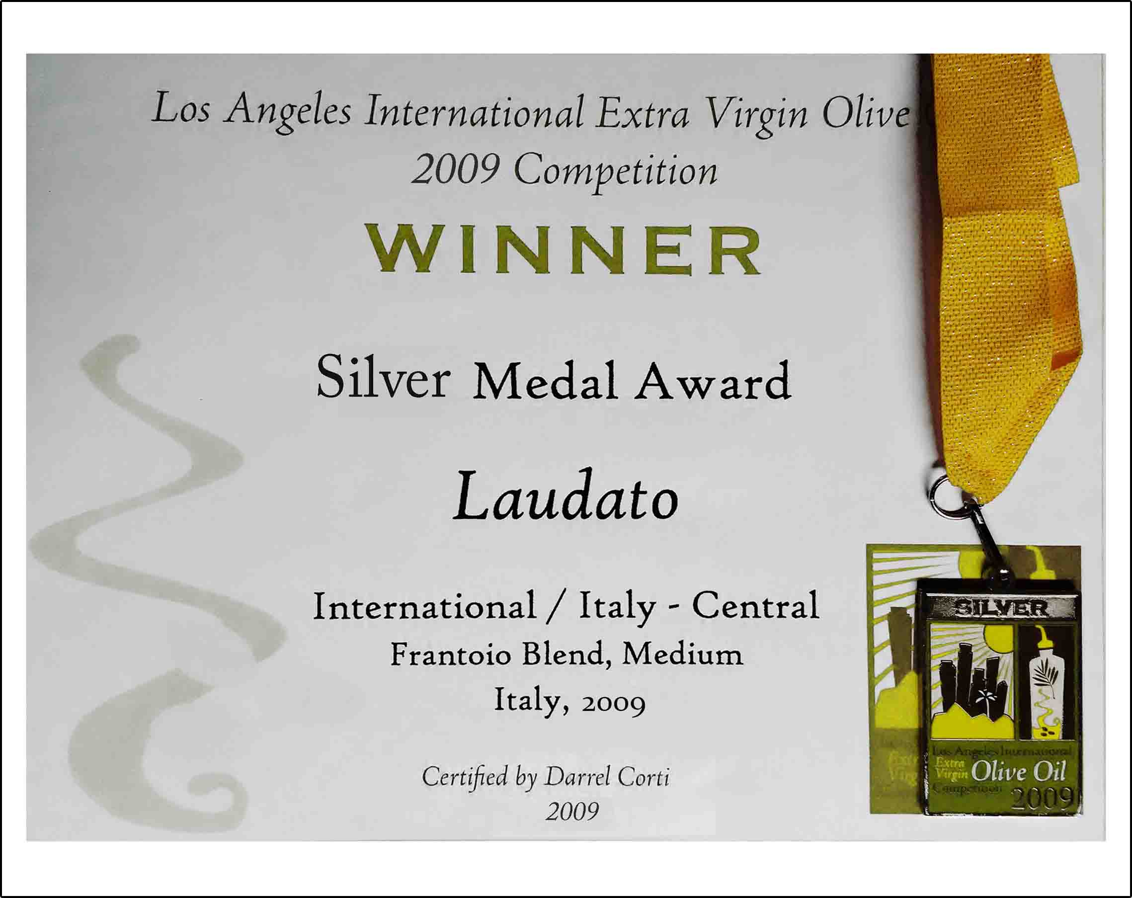 Los Angeles International Extra Virgin Olive Oil Competition 2009